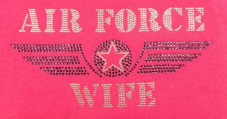Air Force Wife Rhinestone T-Shirt