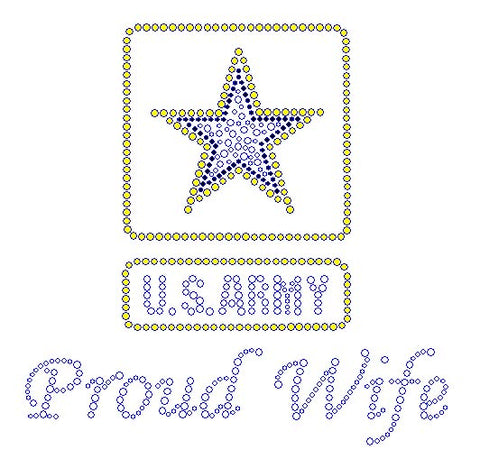 Army Proud Wife Rhinestone Transfers
