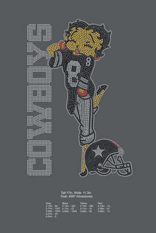 Dallas Cowboys Betty Boop- Digital Download ONLY