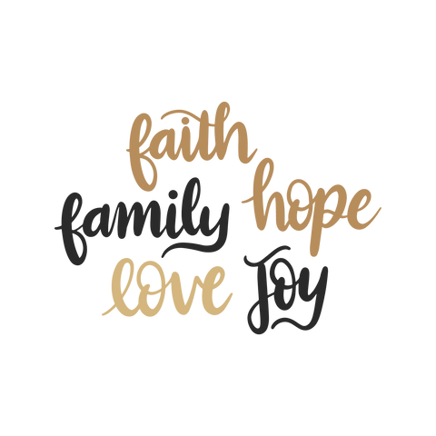 Faith Family Hope Love - Digital Download ONLY