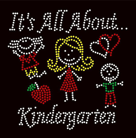 It's All About Kindergarten Rhinestone T-Shirt - BlingThatSingsBoutique