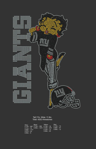 New York Giants Betty Boop- Digital Download ONLY