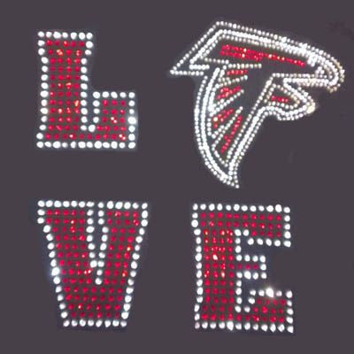 LOVE Falcons Rhinestone T-Shirt - BlingThatSingsBoutique