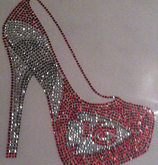 Kansas City Chiefs Rhinestone Heel
