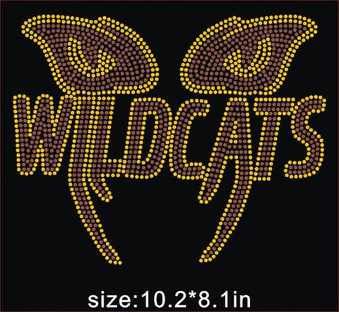 BCU Wildcats Eyes Rhinestone T-Shirt - BlingThatSingsBoutique