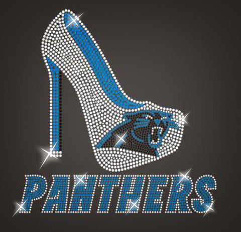 Carolina Panthers Rhinestone Heel