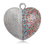 Heart Shaped  Rhinestones Women Evening Bags