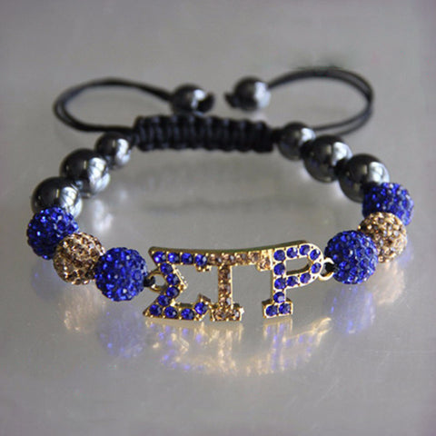 Sigma Gamma Rho Connector Charm Bracelet Women Jewelry - BlingThatSingsBoutique