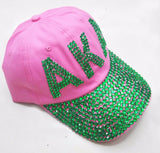 AKA Rhinestone Denim Caps - BlingThatSingsBoutique