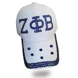 ZPB Hat Denim Baseball Rhinestone ZETA PHI BETA