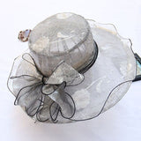 Elegant Fashion Women's Lace Church Hats Wide Brim