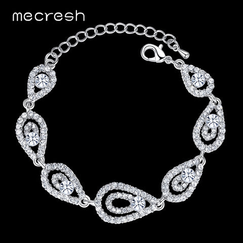 Mecresh Wedding Crystal Bracelets