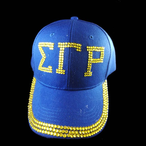 Sigma Gamma Rho  Sorority  letters style Glass denim caps women Sigma Gamma Rho Rhinestone Hat