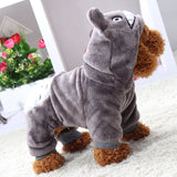 Winter Pet Clothing Cartoon Pet Outfit