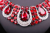 Fashion Indian Jewellery Crystal Necklace & Earrings set Bridal Jewelry Sets