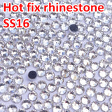 1440pcs Good quality Crystal  Clear DMC Flatback Hot Fix Rhinestone  SS16 3.8-4.0MM Glass Strass Hotfix Rhinestones
