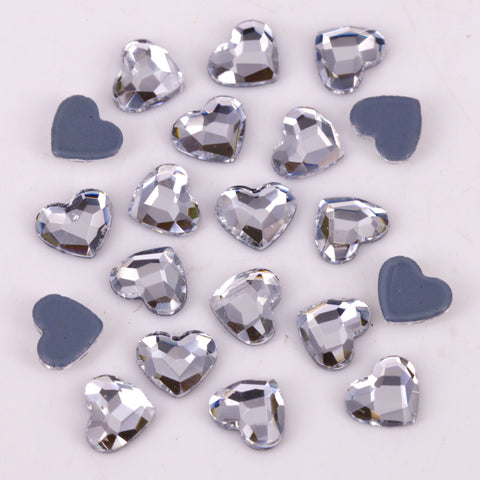 High Quality 6mm Heart Flat Back Hotfix Rhinestones / Iron On Flat Back Crystals