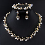 Wedding necklace earring set Bridal  jewelry set for women Elegant Party Gift Fashion Costume