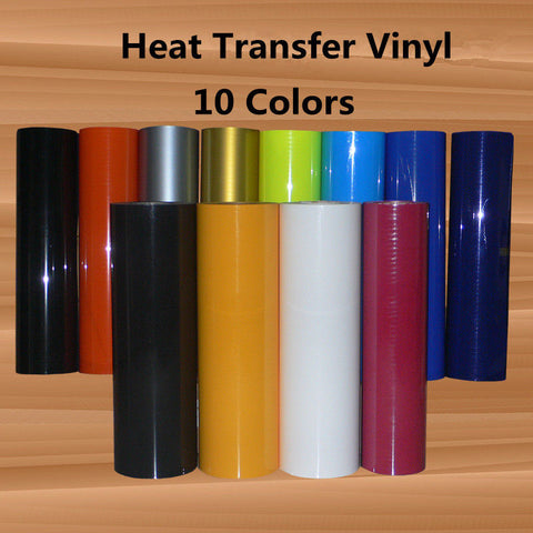 0.5x25m PowerPress Heat Transfer Vinyl 20 Colors Starter BUNDLE DIY T-Shirt Vinyl Transfer Sheets -Best Iron On HTV Vinyl