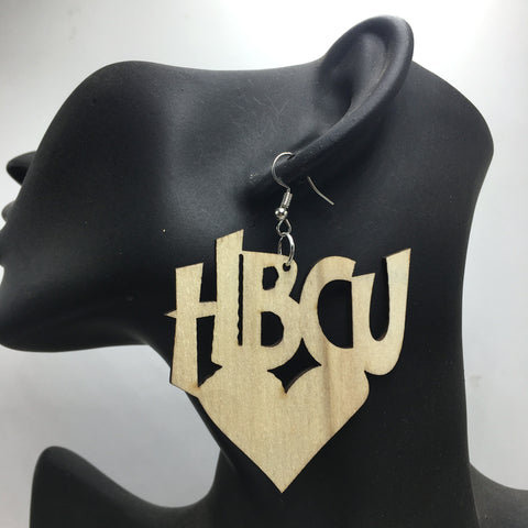 !!Unfinished HBCU wooden earrings