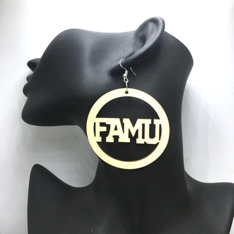Unfinished FAMU Wooden Earrings