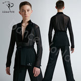 Dance Costume children Latin dance shirt professional performing regular top for boy long sleeve high quality