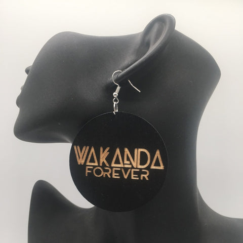 Wakanda forever wooden earrings(LIMITED SUPPLY)