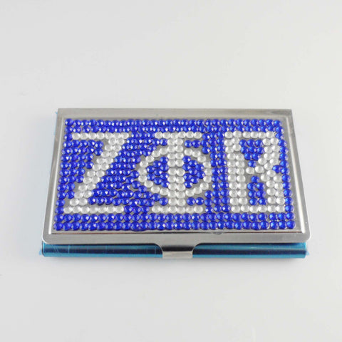 ZETA PHI BETA Sorority Crystal Card Case Holder - BlingThatSingsBoutique
