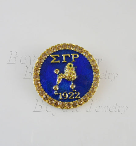 Sigma Gamma Rho Lapel Poodle Pin brooch jewelry - BlingThatSingsBoutique
