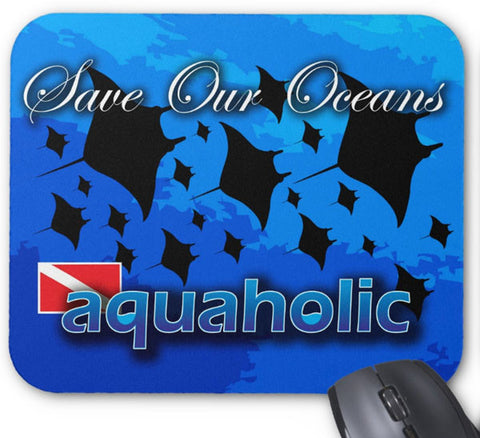 Mousepad Mantas Aquaholic