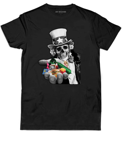 ART MACH1NE Capitalism Tee Black