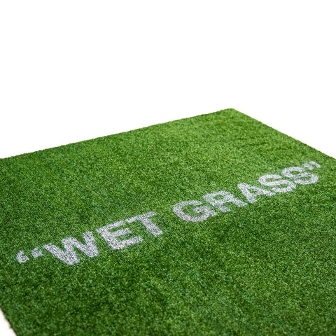 """WET GRASS"" 1x1m Door Mat - Ballin' On A Budget Supply Store"