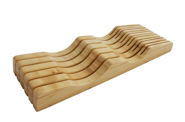 Bamboo Knife Block - In-Drawer Bamboo Knife Block