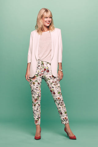 16702 Ankle Crop WILD FLORAL PRINT - The Rarity Group