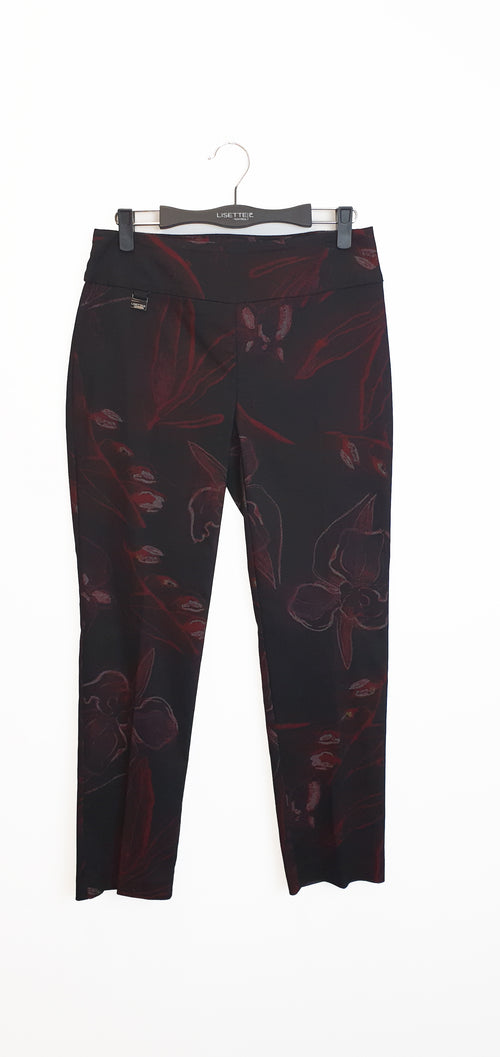 54605 Slim BONITA PRINT -  - Pants - Lisette L Montreal Australia - The Rarity Group