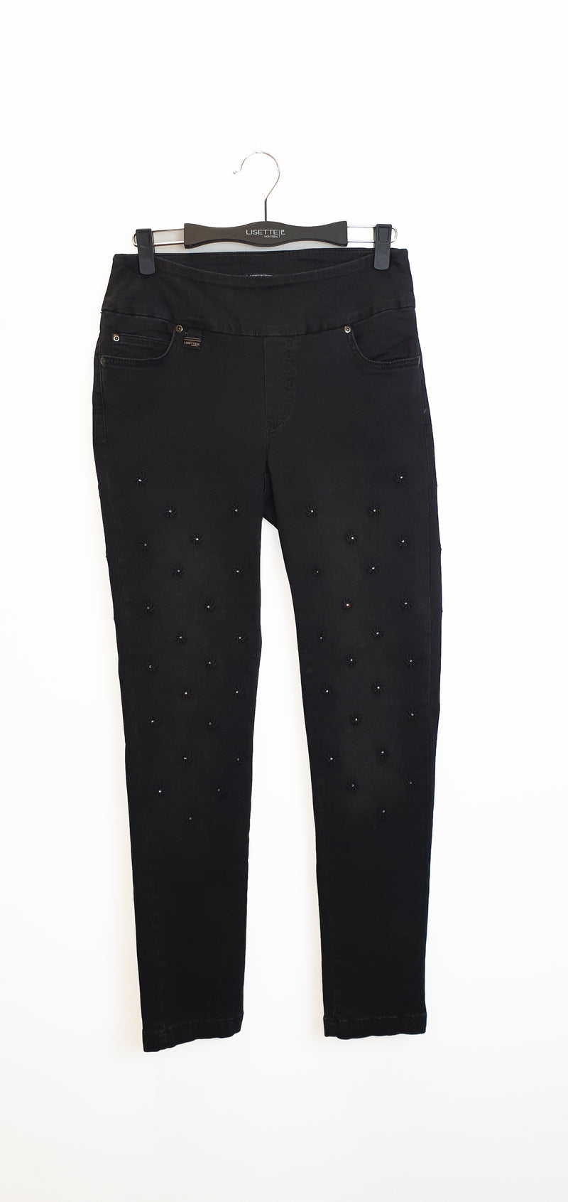 455613 Slim BETTY DENIM EMBROIDERED -  - Pants - Lisette L Montreal Australia - The Rarity Group