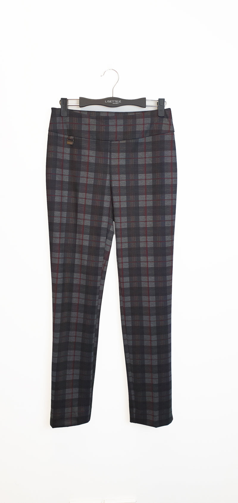 44505 Slim SCOTTISH PLAID PRINT -  - Pants - Lisette L Montreal Australia - The Rarity Group