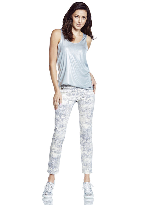 6601 Ankle PRINTED REPTILE -  - Pants - Lisette L Montreal Australia - The Rarity Group