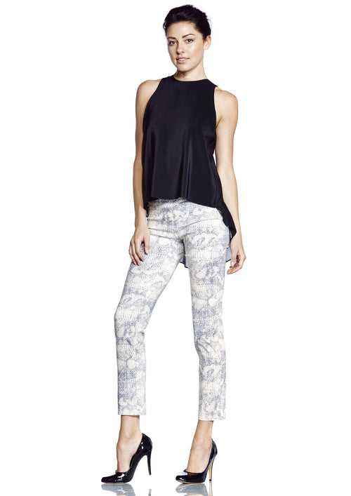 6602 Cropped Thinny PRINTED REPTILE -  - Pants - Lisette L Montreal Australia - The Rarity Group