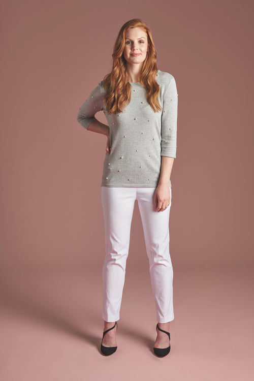 801 Ankle WHITE -  - Pants - Lisette L Montreal Australia - The Rarity Group
