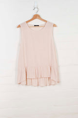 B1001 Ruffled Hem Tank - Dusty Pink - Tank - BERLIN - The Rarity Group