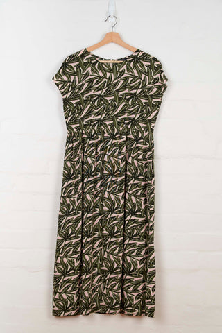 B1060 Printed Cap Sleeve Dress -  - Dress - BERLIN - The Rarity Group
