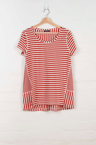 B1071 Roped Sleeve Striped Top -  - Top - BERLIN - The Rarity Group