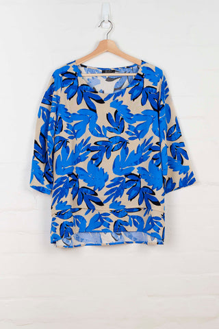 B1085 Double Layered Print Top -  - Top - BERLIN - The Rarity Group