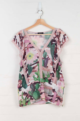 B1120 Camo Cactus Butterfly Top -  - Top - BERLIN - The Rarity Group
