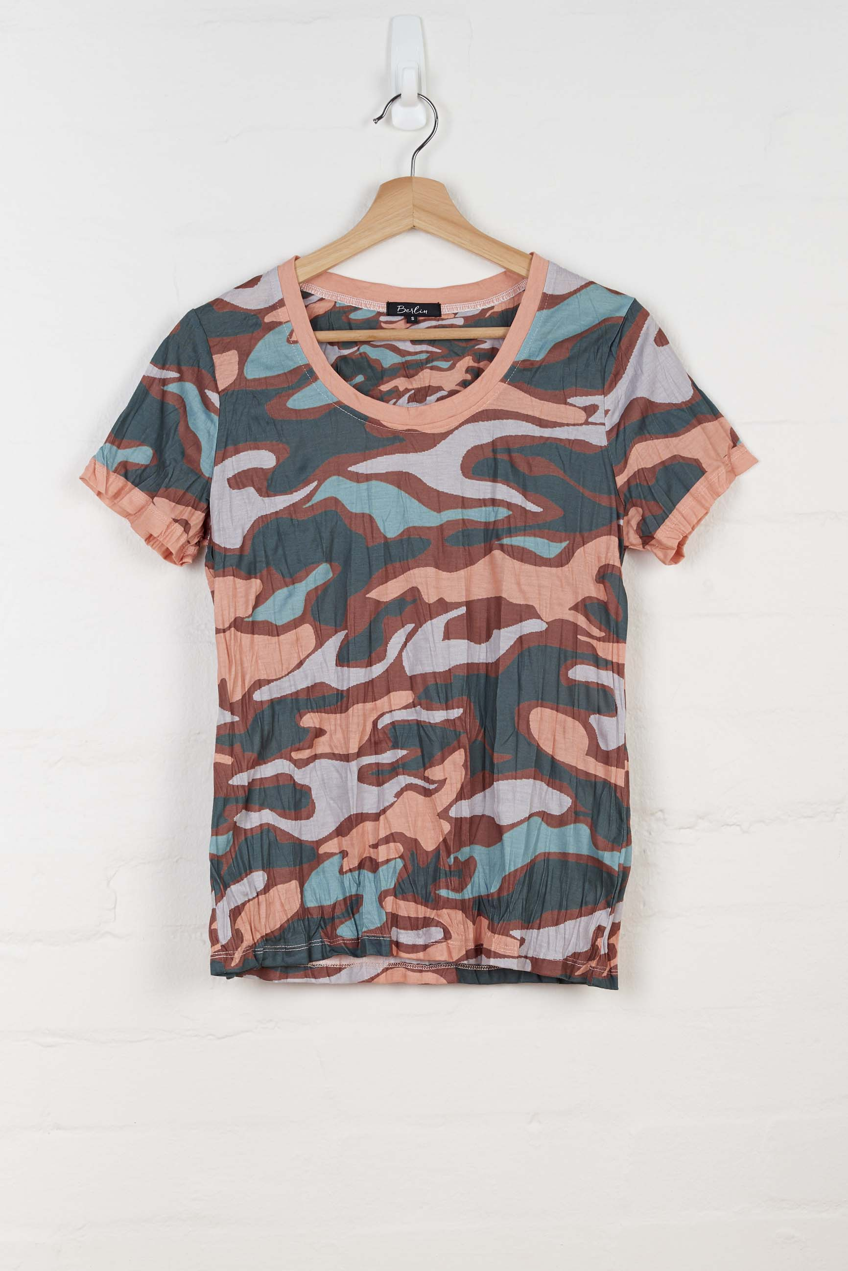 B1127 Camo Short Sleeve Tee -  - Top - BERLIN - The Rarity Group