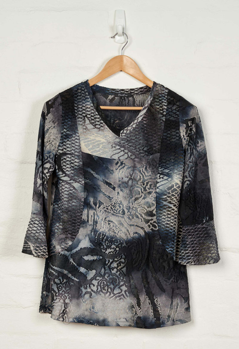 B1500 L/S V Neck Top -  - Top - BERLIN - The Rarity Group