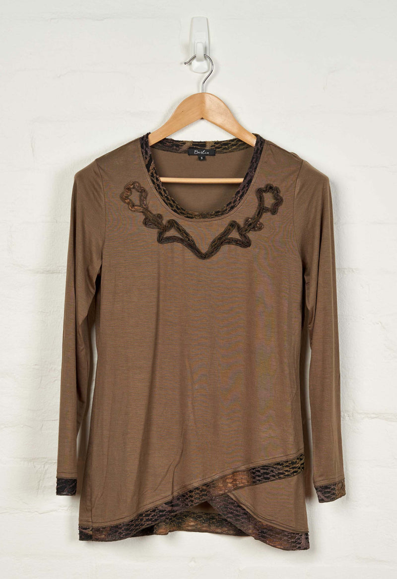 B1503 Embroidered Tee -  - Top - BERLIN - The Rarity Group