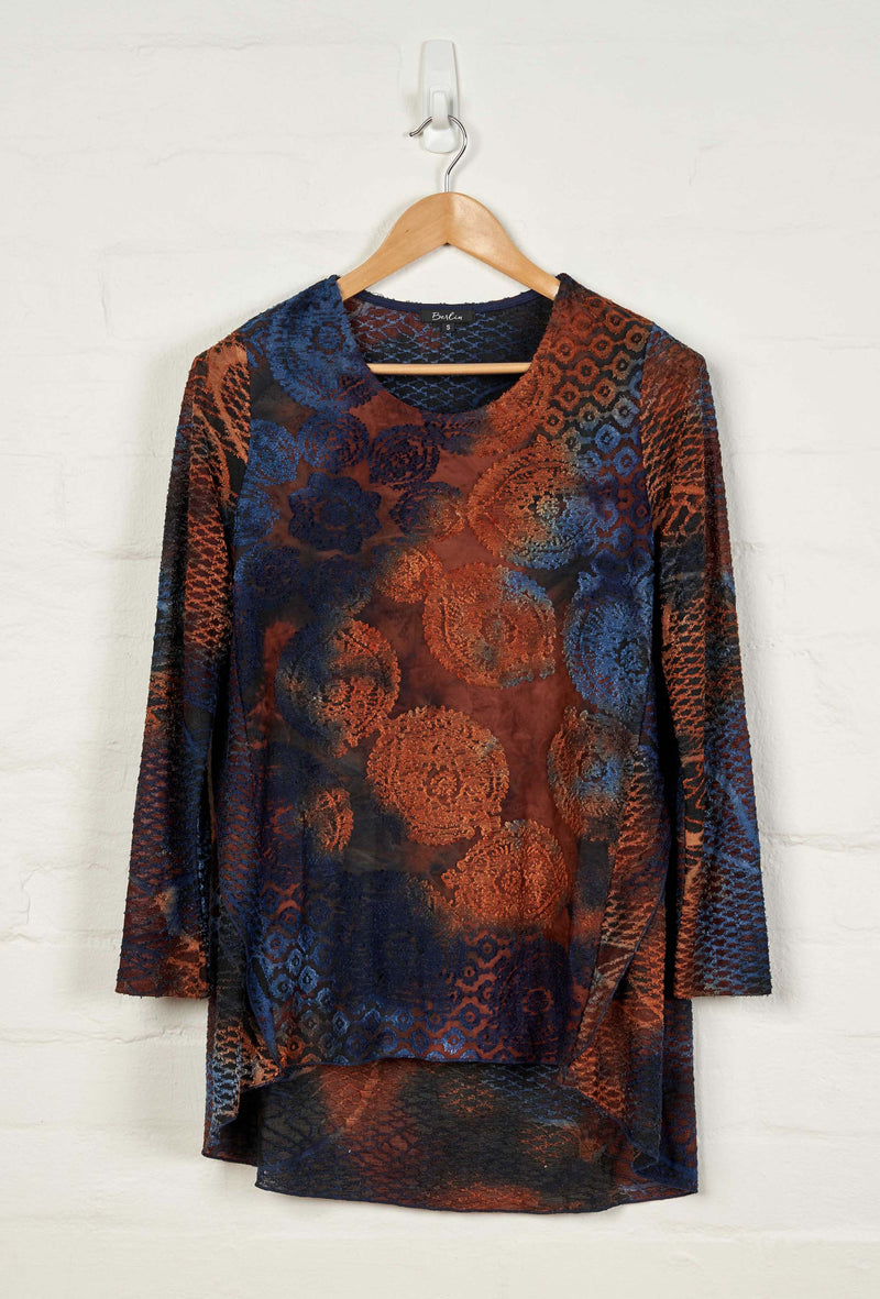 B1533 L/S Round Neck Tunic with Back Overlay -  - Tunic - BERLIN - The Rarity Group