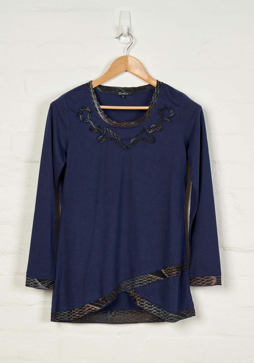 B1543 L/S Embroidered Tee -  - Top - BERLIN - The Rarity Group